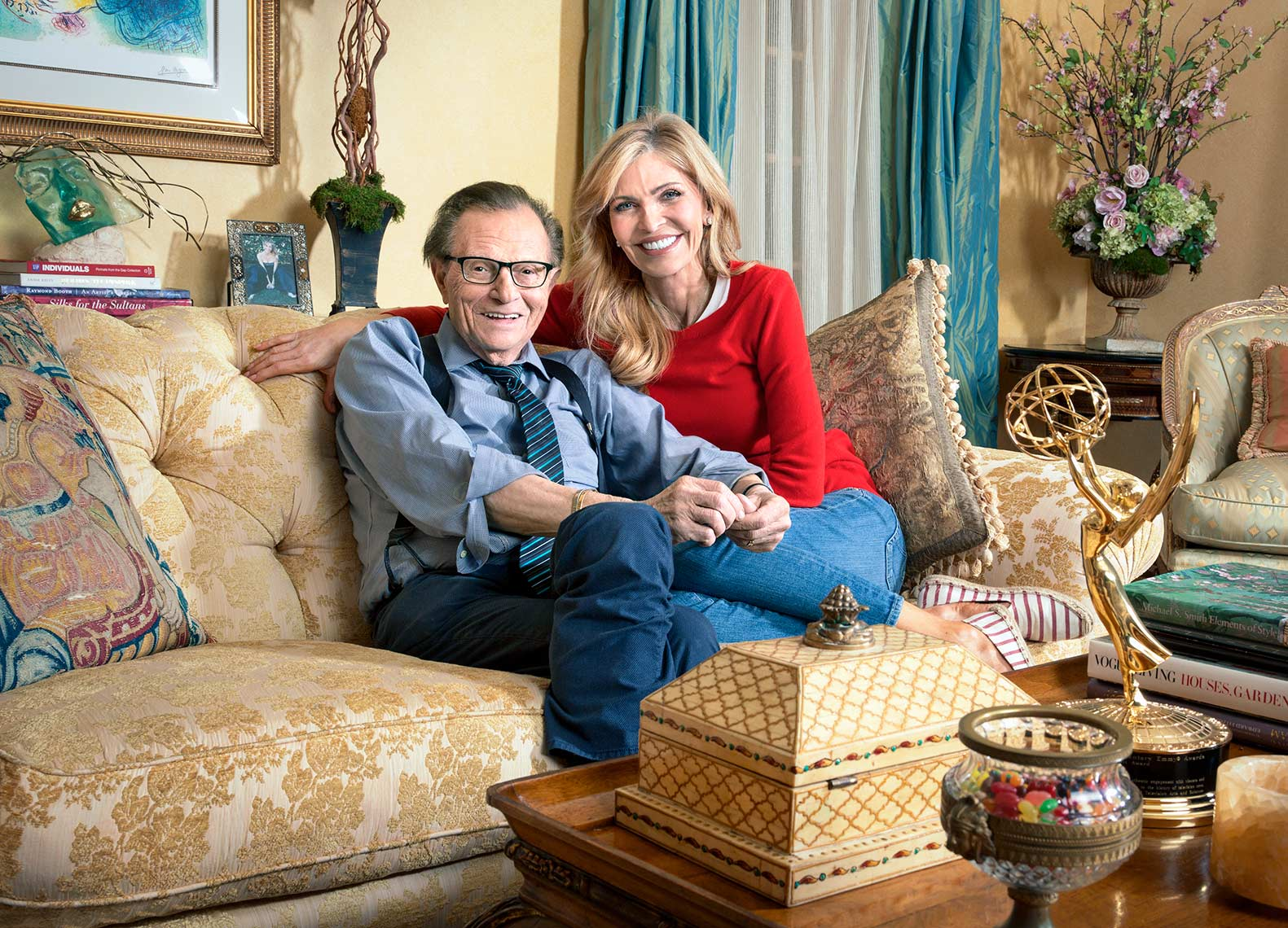 Larry King and his wife Shawn King
